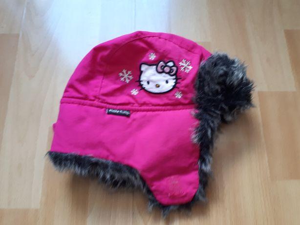 Super ciepłą różowa czapka z Hello Kitty rozmiar 6-8 lat firmy H& M