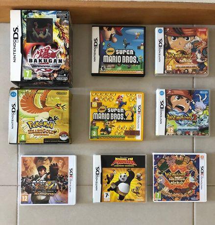 Jogos e Acessórios Nintendo DS/3DS (originais)