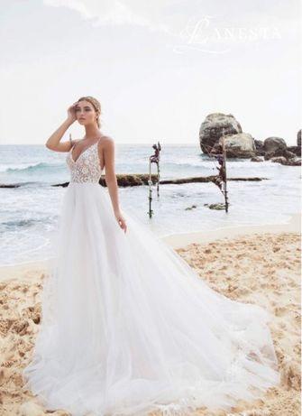 Свадебное платье нежное лёгкое коллекция 2019