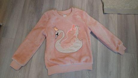 Ciepła pluszowa bluza 134 cm na święta zimowa H&M