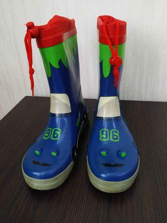 Резиновые сапоги для мальчика 34 размер, 22,5 см стелька