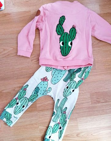 Spodnie Dear Sophie dresy kaktusy 122/128
