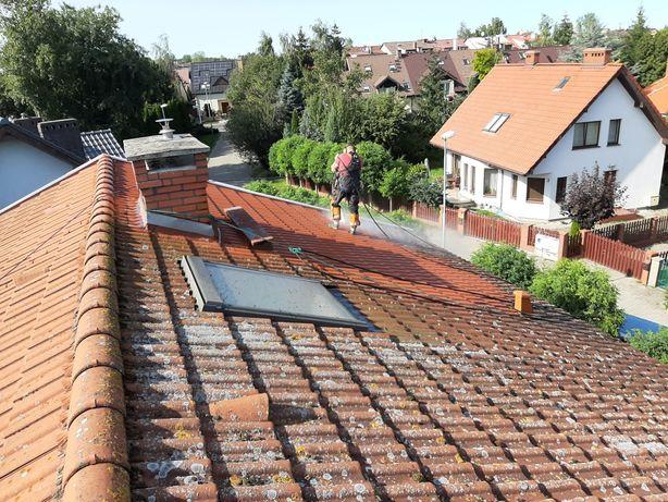 Mycie i malowanie Dachów i elewacji , mycie kostki brukowej.