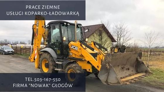 Usługi koparką, koparko-ładowarką - prace ziemne, fundamenty itp Polkowice - image 1