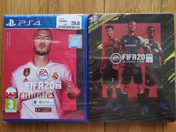 Fifa 20 PL PS4 +Steelbook nowa w folii