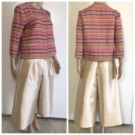 MaxMara 40 (44IT) M elegancki komplet żakiet i spodnie