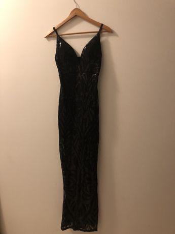 Vestido de gala preto comprido
