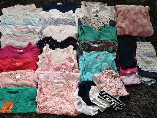 Zestaw mega paka ciuszków ubrań r 74-80 wiosna lato dziewczynka