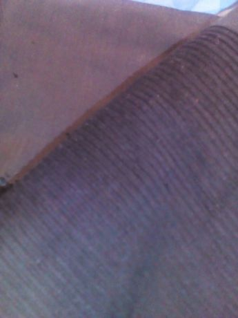Отрез ткани, вельвет черный 7м