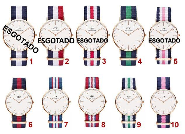 Relógios Daniel Wellington Novos Braceletes coloridas com 2cm de larg