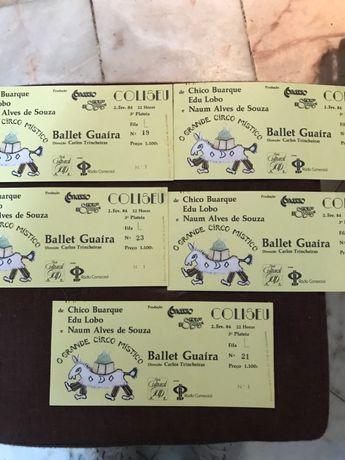 Bilhetes Ballet Guaira - 1984