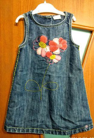 Продаю джинсовый сарафан на девочку 2-3 года