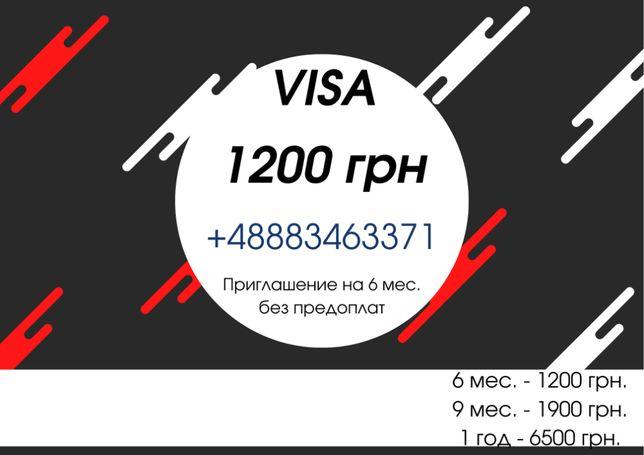 Приглашение, рабочая виза в Польшу, официальное трудоустройство