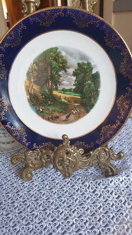Piekny talerz porcelana syg.Weatherby Hanley England Royal Falcon ware