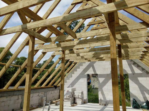 Budowa domu fundamenty dach więźby dachowe kompleksowa budowa domu