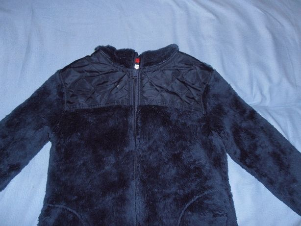Ocieplana bluza z kapturem, granatowa 140/146, Young Style