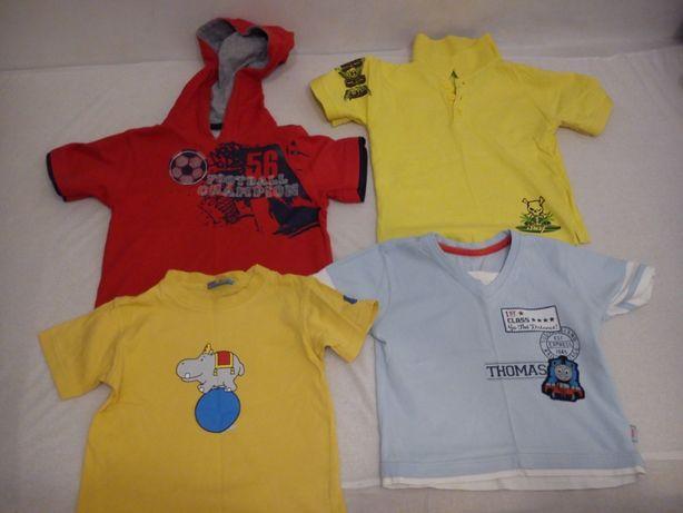 Koszulki z krótkim rękawem na ok 2/4 lata (rozmiar 92/98)