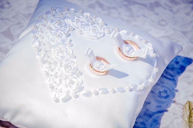 Подушечка для весільних обручок