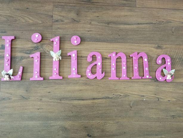 Napis na ścianę Lilianna