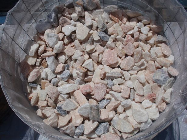 Pedra decorativa, brita - gravilha