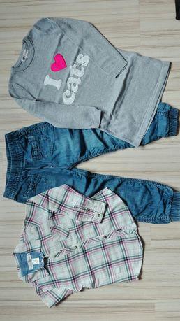 Zestaw H&M rozm 116 koszula tunika dżinsy