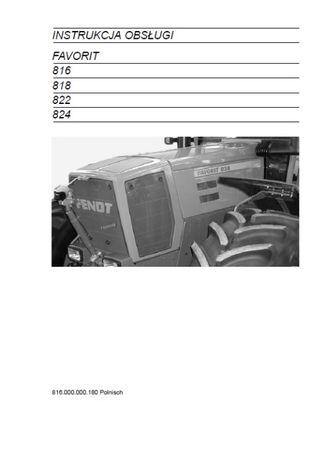 Instrukcja obsługi FENDT FAVORIT 816,818,822,824 [PL]