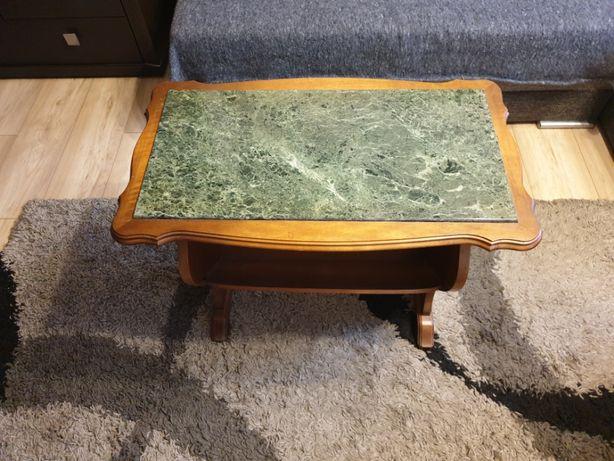Drewniany stolik z kamieniem STILMOEBEL