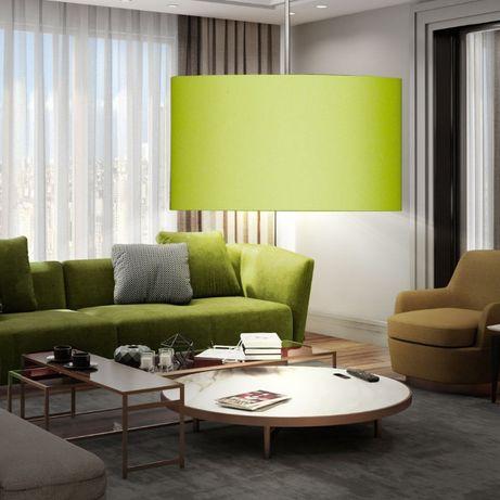 Lampa wisząca zielony abażur 40 cm śr styl LOFT HONSEL ESTADIO 68211