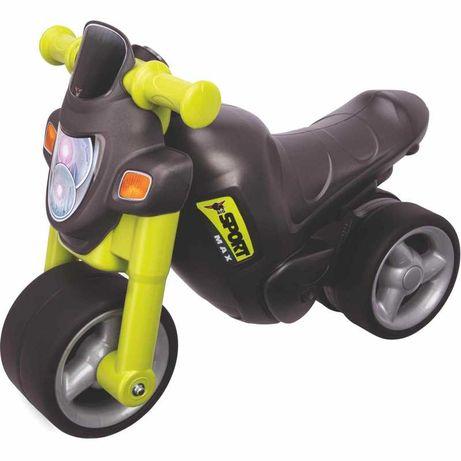 rowerek biegowy Sportowy Jeździk Motorek z Dźwiękiem Zielony