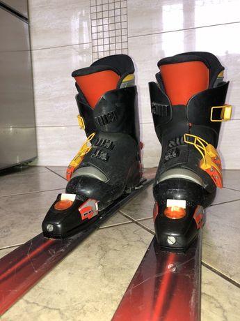 Zestaw narciarski junior firmy Salomon - buty+ narty