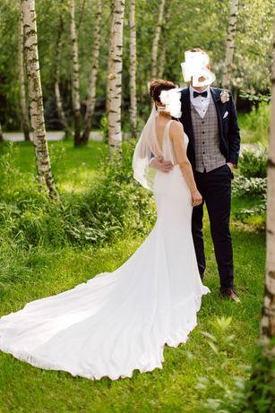 Suknia ślubna syrenka Pronovias Eol rozmiar 36 + odpinany tren - 2 w 1