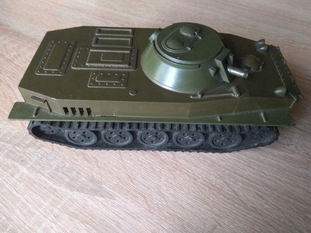 Amfibia czołg zabawka PRL stary dla kolekcjonera