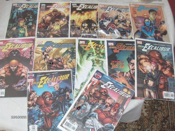 NEW EXCALIBUR #1-24 -oryginalne komiksy USA!!!