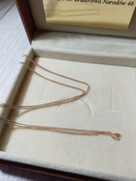 Łańcuszek damski złoty pr. 585 różowe złoto 47,5cm LOMBARD GMG Kwidzyn