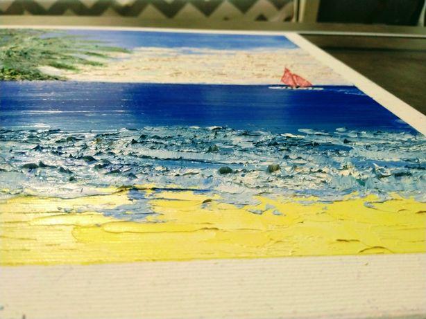 Картина маслом 3d 45 см