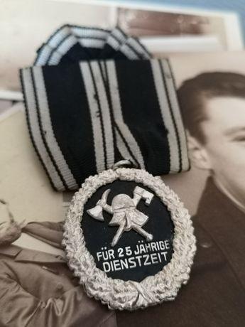 Odznaczenie niemieckie Medal pruskiego strażaka 25-lecie służby