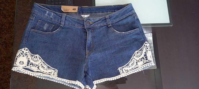 Spodenki jeans  z koronką Pepco roz. 40