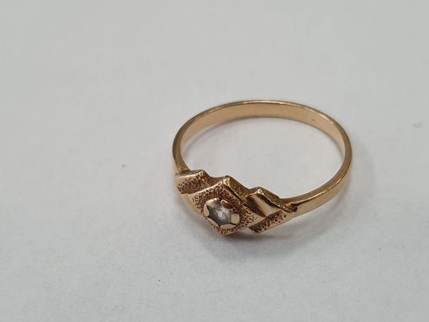Klasyczny złoty pierścionek damski/ 585/ 2 gram/ R13/ sklep Gdynia