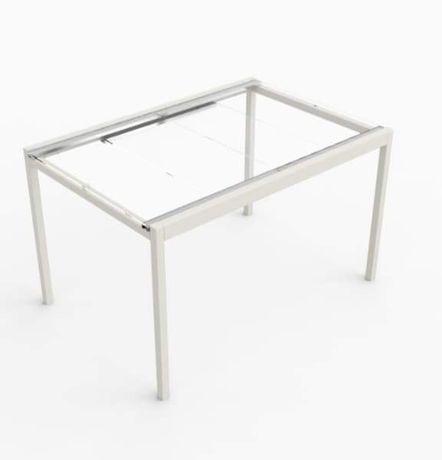 IKEA Stół Glivarp szklany blat rozkładany 125/188x85cm