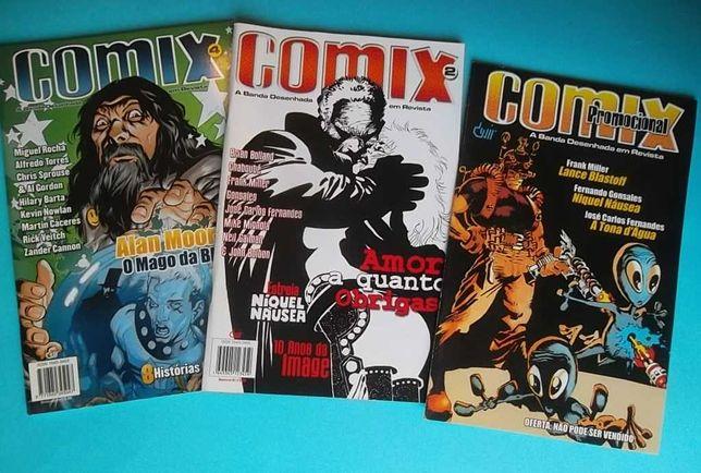 3 revistas COMIX inc. número promocional