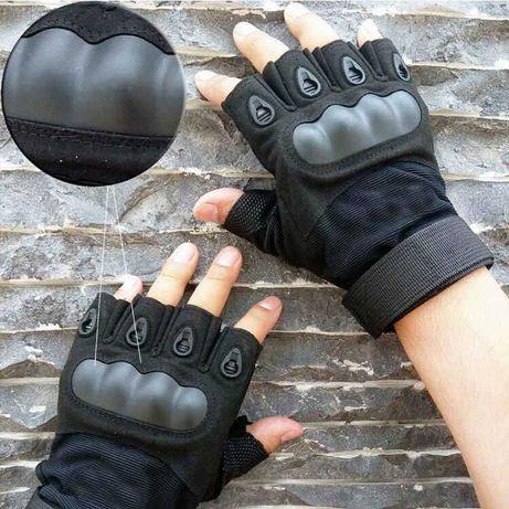 Тактические Перчатки с защитой, множество размеров, олива и черный