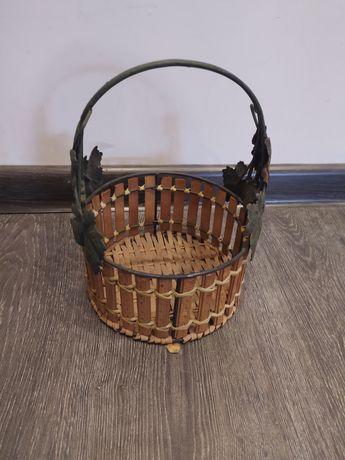 Koszyk wiklina metal