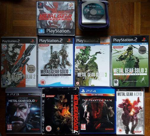 Jogos Metal Gear Solid Playstation e Nintendo
