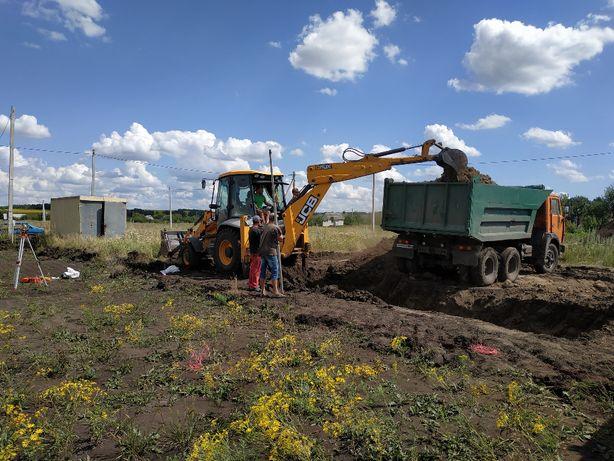 Земляные работы Копка грунта,котлованов,нивелирование местности.