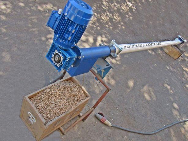 Шнек в ПВХ трубе. Конвейер для зерна, пеллеты, семечки. Транспортер.