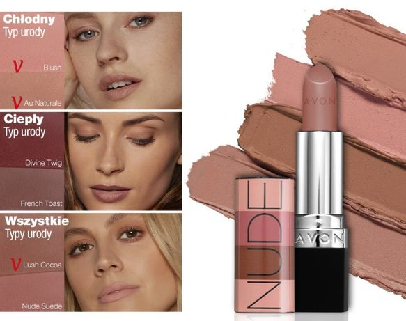 Matowa szminka True Color, Avon