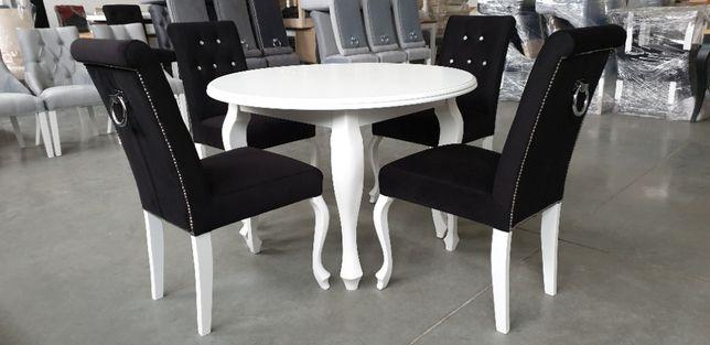 Krzesło Chesterfield Ludwik z kołatką czarne kryształki producent