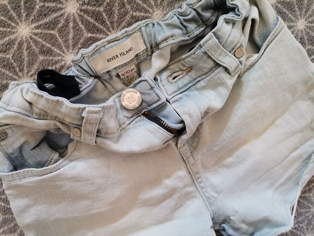 Super spodenki dla dziewczynki 9-10 lat River Island Denim jeans