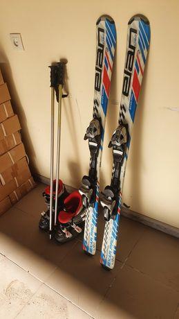 Лыжи детские высота 120см