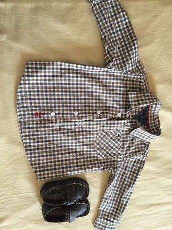 Camisa Tommy Hilfiger 2 anos e sapato 21 menino